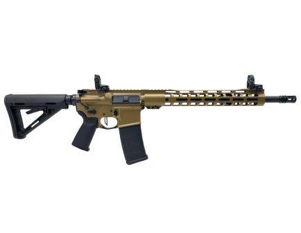 "PSA Custom 5.56 NATO 16"" Nitride Mid-Length 13.5"" Slim-Line MLOK MOE Rifle w/ 3.5lb Flat Bow FCG, Ambi Safety, MBUS - Coyote"