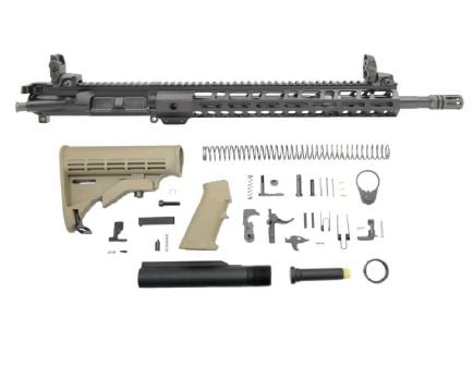 "BLEM PSA 16"" 5.56 NATO 1/7 Mid-Length Nitride 13.5"" Lightweight M-Lok Classic Rifle Kit w/MBUS Sight Set, Flat Dark Earth"