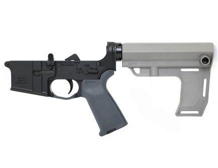 BLEM PSA AR-15 Complete MFT Battlelink MOE Stealth Lower, Gray