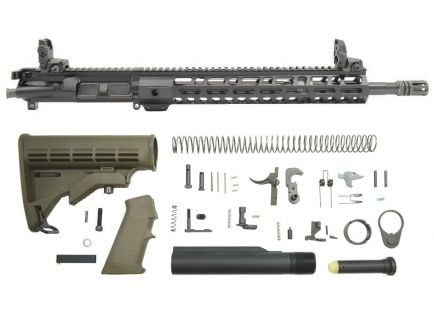 "BLEM PSA 16"" 5.56 NATO 1/7 Mid-Length Nitride 13.5"" Lightweight M-Lok Classic Rifle Kit w/MBUS Sight Set, ODG"