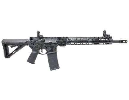 "PSA Custom ""Black OCP"" 16"" 5.56 NATO 1/7 13.5"" Cross Cut MLOK 3.5 lb Flat Trigger, Ambi Safety and MBUS"