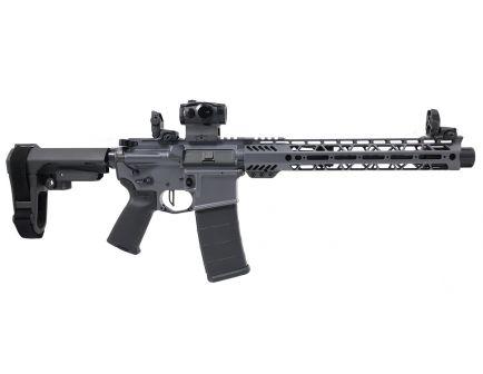 "PSA Custom .300 AAC BO 10.5"" Phosphate 1/8 12.5"" Cross-Cut MLOK SBA3 Pistol w/Romeo 5, MBUS, Ambi Safety, & 3.5 lb Flat FCG - Gray"