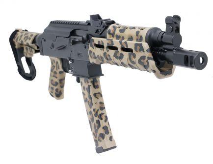 "PSA Custom ""Cheetah "" AK-V 9mm MOE  SBA-3 Pistol w/ ALG AKT EL Trigger"