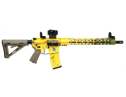 "PSA Custom ""Banana Bruiser"" 5.56 NATO 1/7  15"" Slim-Line MLOK Rifle w/Romeo 5, MBUS, Ambi Safety, FDE Bolt, and 3.5 lb Flat FCG"