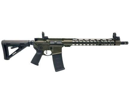 "PSA Custom 5.56 NATO 16"" Carbine-Length 15"" Slim-Line MLOK MOE Rifle w/ 3.5lb Flat Bow FCG, Ambi Safety & MBUS - ODG"