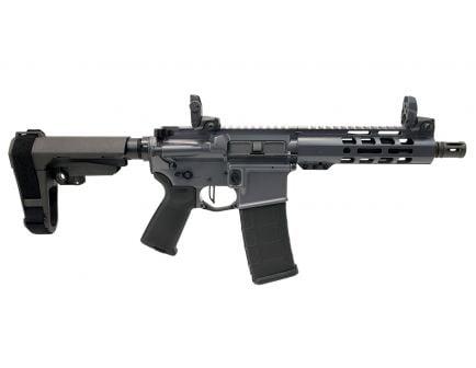"PSA Custom .300 AAC Blackout 7.5"" Pistol-Length 1/8 Phosphate 7"" Slim-Line M-LOK MOE Pistol w/ 3.5lb Flat Bow FCG, MBUS, Ambi Safety  & SBA3 - Grey"