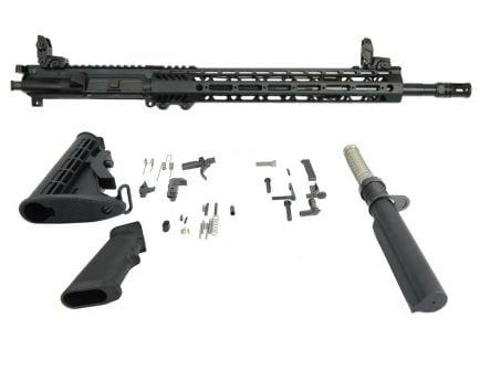 "BLEM PSA 16"" Mid-Length 5.56 NATO 1:7 Nitride 13.5 Lightweight M-Lok Classic Rifle Kit With MBUS Sight Set"