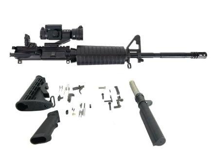 "PSA 16"" M4 Carbine Length 5.56 NATO 1:7 Nitride Freedom Rifle Kit with Vortex Strikefire II Optic & Rear Mbus"