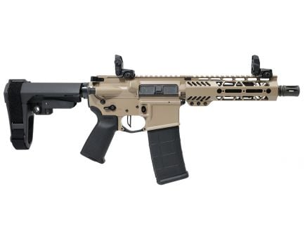 "PSA Custom .300 AAC 7.5"" Phosphate 7"" M-LOK SBA3 Pistol w/ 3.5lb Flat FCG - Tan"
