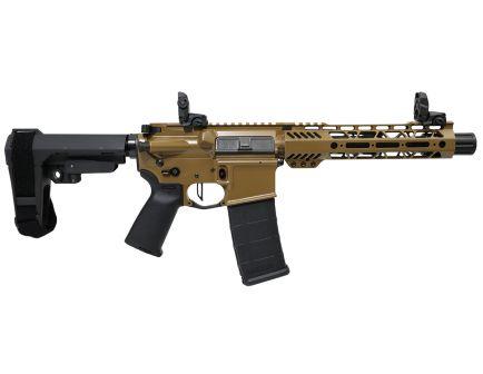 "PSA Custom.300 AAC 7.5"" Phosphate 9"" M-LOK SBA3 Pistol w/ 3.5 lb Flat FCG - Coyote"