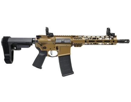 "PSA Custom.300 AAC 10.5"" Nitride 9"" MLOK SBA3 Pistol w/3.5lb Flat FCG - Coyote"