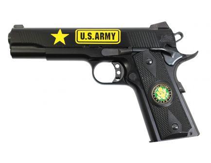 PSA Custom US Army .45 ACP 1911 w/Enameled Medallion Grips, 3 Magazines, Soft case, & Watertight Storage Case