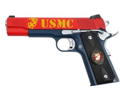 PSA Custom USMC .45 ACP 1911 Pistol w/Enameled Medallion Grips, 3 Magazines, Soft case, & Watertight Storage Case