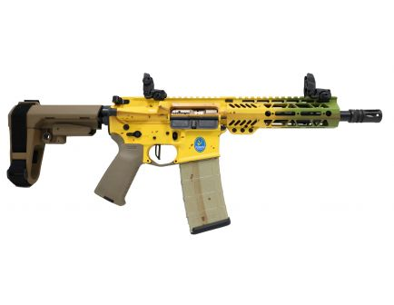 "PSA Custom ""Banana Blackout"" 300 AAC 8.5"" Nitride 7"" MLOK SBA3 w/ 3.5lb Flat FCG"