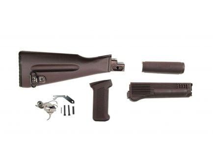 PSAK-47 Classic Plum Furniture Set w/ PSA Custom AK-47 Enhanced Polished Nickel Boron Fire Control Group
