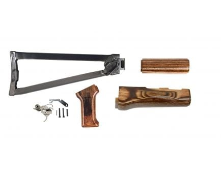 PSA AK Nutmeg Furniture Set and Folding Stock w/ PSA Custom AK-47 Enhanced Polished Nickel Boron Fire Control Group