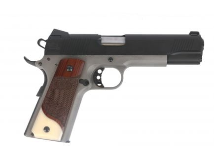 PSA Custom .45 ACP 1911 Stainless Two-Tone w/ Scrolled Grips