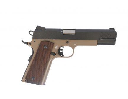 PSA Custom .45 ACP 1911 Stainless Two-Tone w/Walnut Grips - Graphite & Tan