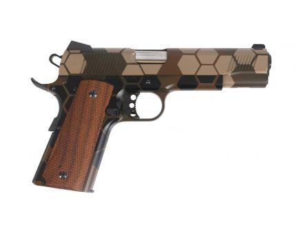 """PSA Custom .45 ACP 1911 Stainless """"Hexed"""" w/Walnut Grips"""