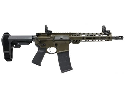 "PSA Custom .300 AAC 10.5"" Nitride 9"" MLOK SBA3 Pistol w/ NiB BCG, 3.5lb Flat FCG - ODG"