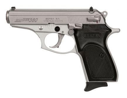 "Bersa Thunder .380 ACP 3.5"" Pistol, Nickel"