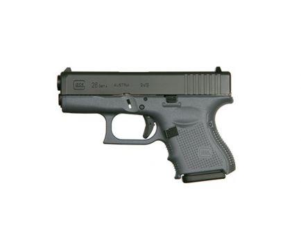 Glock 26 Gen 4 9mm Pistol, Gray PG2650201GF