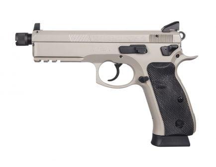 CZ 75 SP01 Tactical 9mm Suppressor-Ready Pistol with Night Sights, Urban Grey - 91253