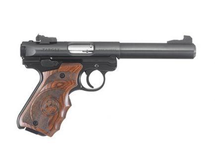 """Ruger Mark IV Target 5.5"""" .22lr Wood Grip Pistol - 40159"""