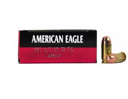 AMERICAN EAGLE 380 AUTO/ACP 95GR FMJ AMMUNITION 50RDS