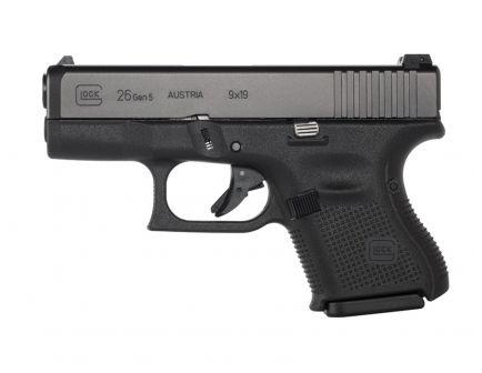 Glock 26 Gen5 9mm Pistol, Black