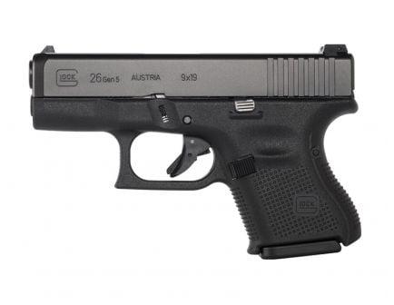 Glock 26 Gen5 9mm Pistol w/ AmeriGlo Night Sights, Black