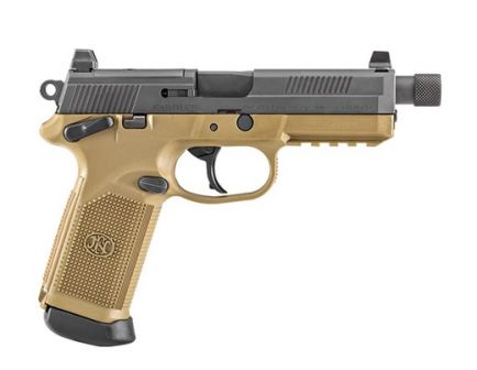 FN FNX-45 Tactical .45 ACP Pistol, Black/FDE-TB/NS 66-100351