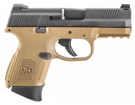 FN FNS-9 Compact 9mm Black & Flat Dark Earth Pistol - 66-100354