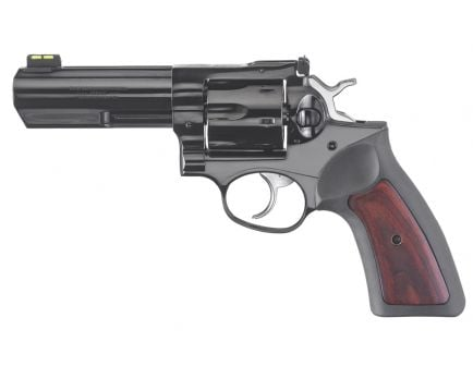 Ruger GP100 357 Magnum Revolver, Cushioned Rubber Grips w/ Hardwood Insert - 1772