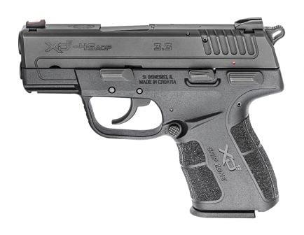 "Springfield Armory XD-E 3.3"" Single Stack .45 Auto/ACP Pistol, Black - XDE93345BE"