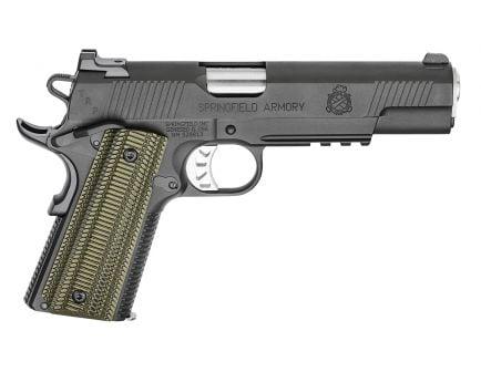 "Springfield Armory 1911 TRP Operator 10mm Pistol 6"", Black w/ Olive Grips - PC9610L18"