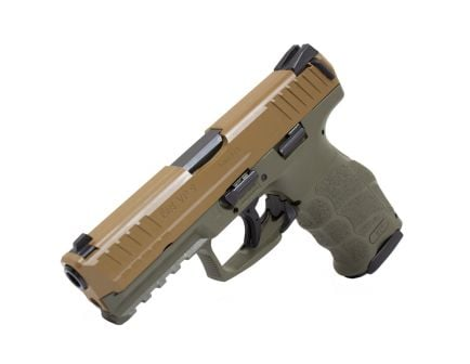 HK VP9 9mm 15 Round Pistol, Flat Dark Earth Slide w/ OD Green Frame - 81000136