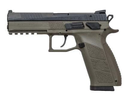 CZ P-09 9mm 19 Round Pistol, OD Green - 91268
