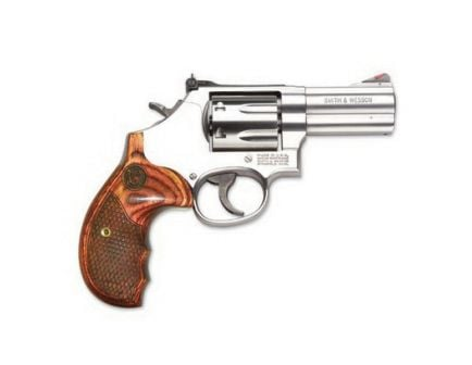Smith & Wesson Model 686 Plus Deluxe Small .357 Mag/.38 S&W Spl +P Revolver, Satin Stainless - 150713