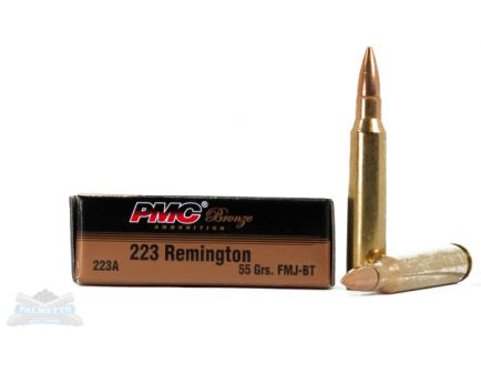 PMC Bronze .223 Remington 55GR FMJ-BT Ammunition (20 Rounds) - 223A