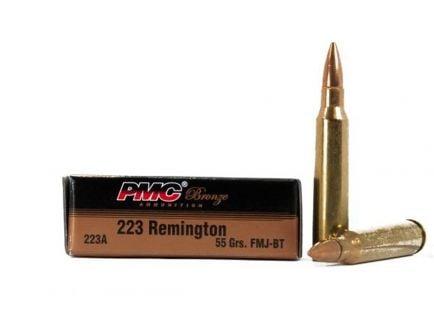 PMC Bronze .223 Remington 55GR FMJ-BT Ammunition (20 Rounds)