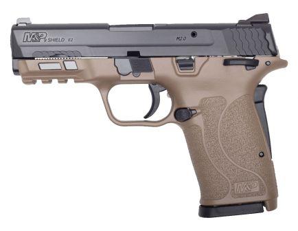 Smith & Wesson M&P 9 Shield EZ 9mm Pistol, FDE w/ Black Slide - 13315