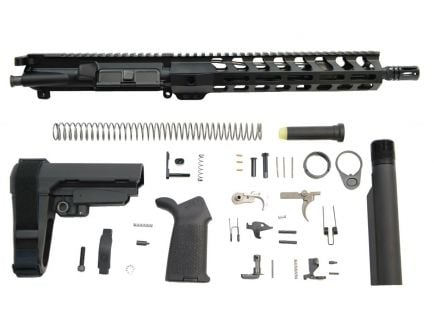 """PSA 11.5"""" 5.56 1/7 Phosphate 10.5"""" Lightweight M-Lok MOE EPT SBA3 Pistol Kit"""