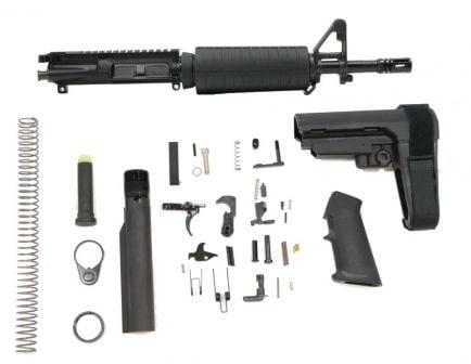 """PSA 11.5"""" 5.56 1/7"""" Phosphate Classic SBA3  Pistol Kit, Black"""