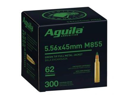 Aguila 5.56 Ammo 62 Grain Green Tip FMJ, 300 rds - 1E556125