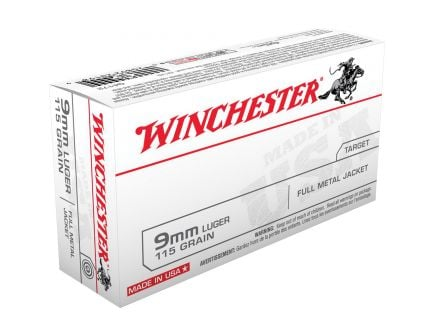 Winchester USA 9mm 115 gr FMJ Ammo, 1000 rounds - Q4172SC