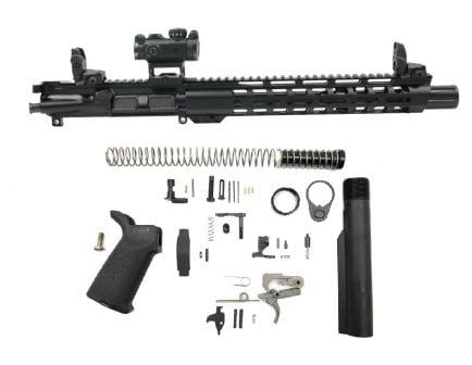 "PSA 10.5"" Carbine-Length 5.56 NATO 1/7 Phosphate 12"" Slant M-Lok MOE EPT Pistol Kit with MBUS Sight Set & Romeo MSR"