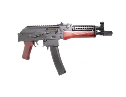 PSA AK-V 9mm Red Wood Picatinny Pistol with Cheese Grater Upper Hand Guard