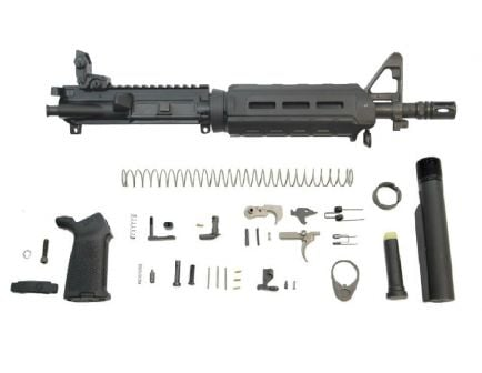 """PSA 10.5"""" Carbine-Length 5.56 NATO 1/7 Nitride MOE EPT Pistol Kit w/MBUS Rear, Black"""