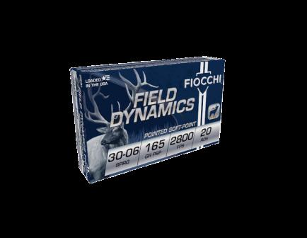 Fiocchi Shooting Dynamics Rifle .30-06 Spfld 165 gr PSP Ammo, 20/Box - 3006C